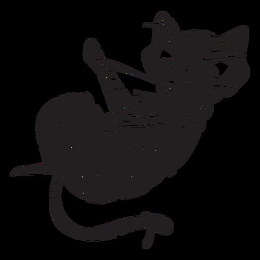 Gato silueta de halloween momia Transparent PNG