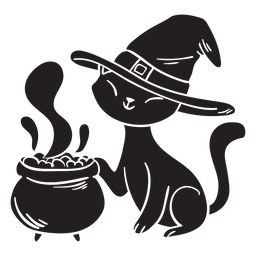 Cat halloween silhouette poison