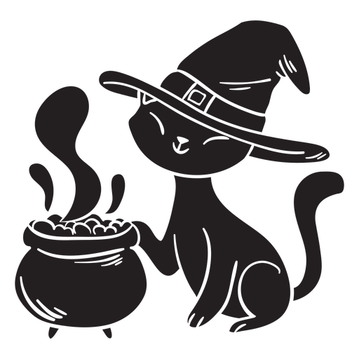 Gato halloween silueta veneno Transparent PNG
