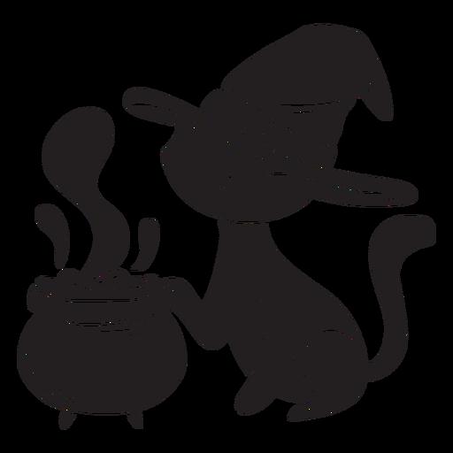 Gato halloween silueta veneno