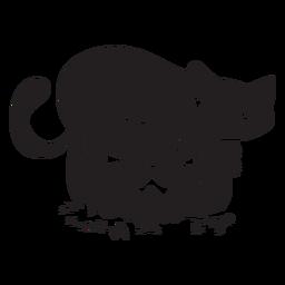 Silhueta de abóbora de halloween de gato