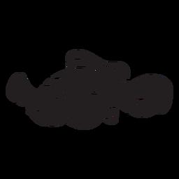 Silueta de pez payaso