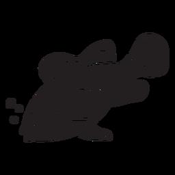 Silhueta de peixe palhaço dormindo