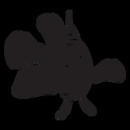 Clown fish silhouette smiles