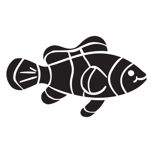 Clown fish silhouette swims Transparent PNG