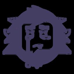 Cry yeti sticker silhouette