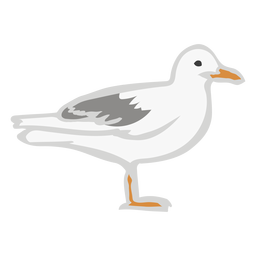 Fly gull flat color animal