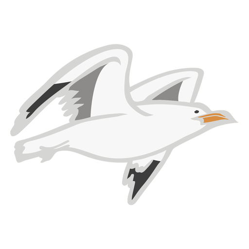 Gull fly color animal flat