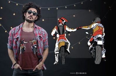 Diseño de camiseta de motociclista.