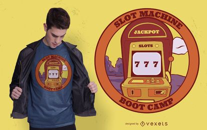 Slot machine t-shirt design