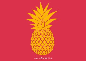 Pineapple illustration design