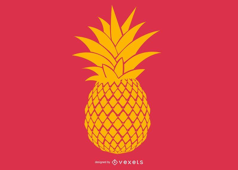 Diseño de ilustración de piña