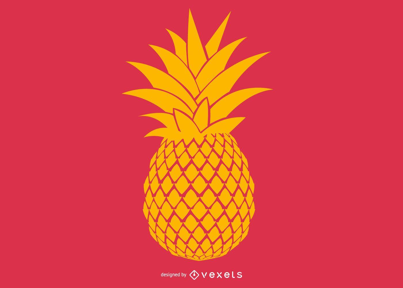 Desenho de ilustração de abacaxi