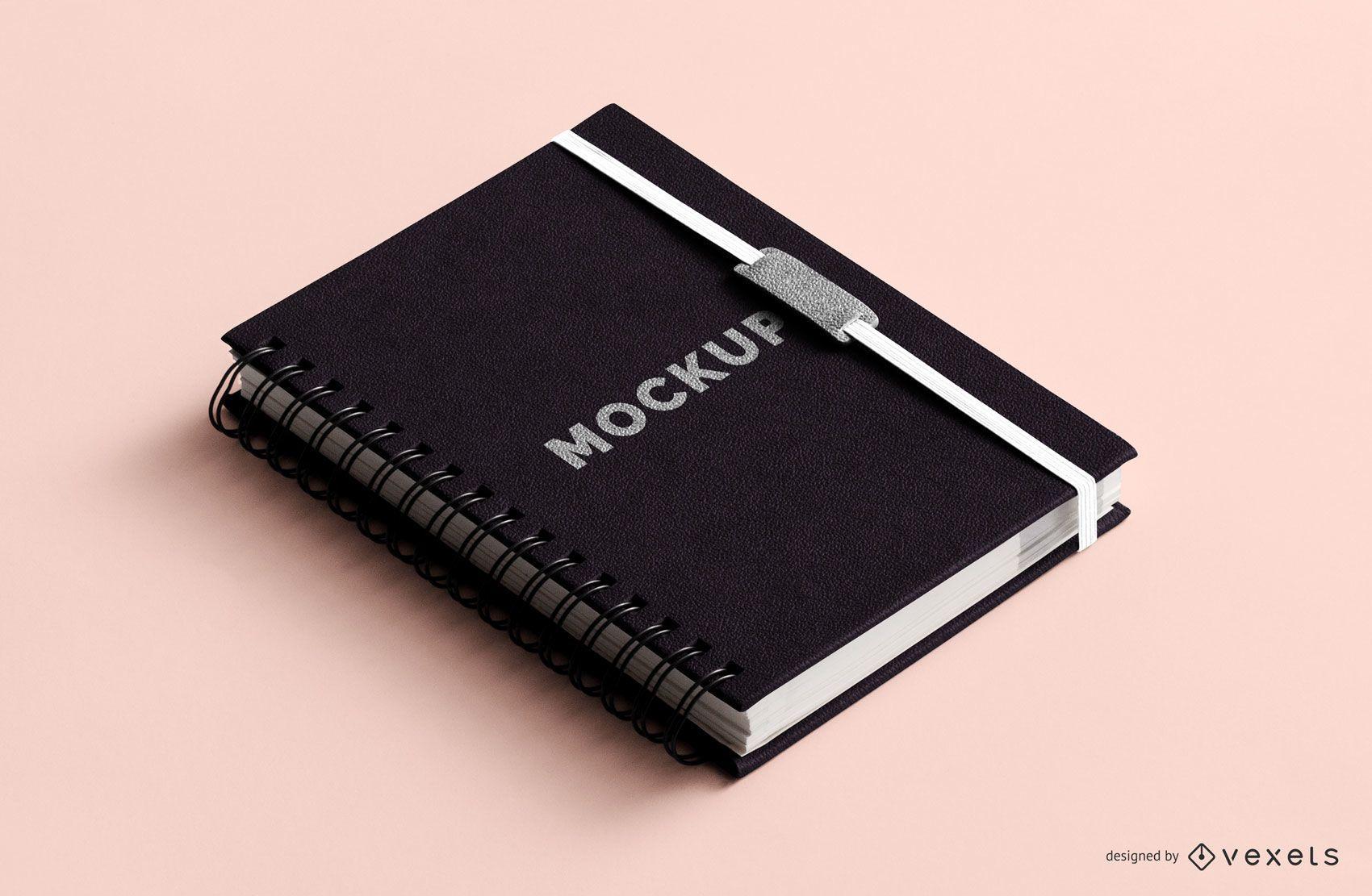 Spiral notebook mockup design