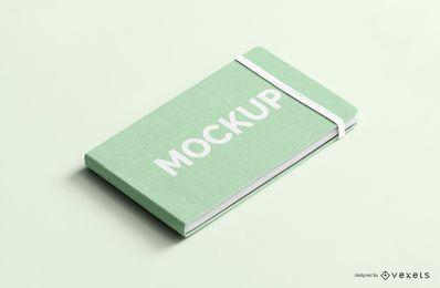 Cuaderno con banda elástica psd mockup