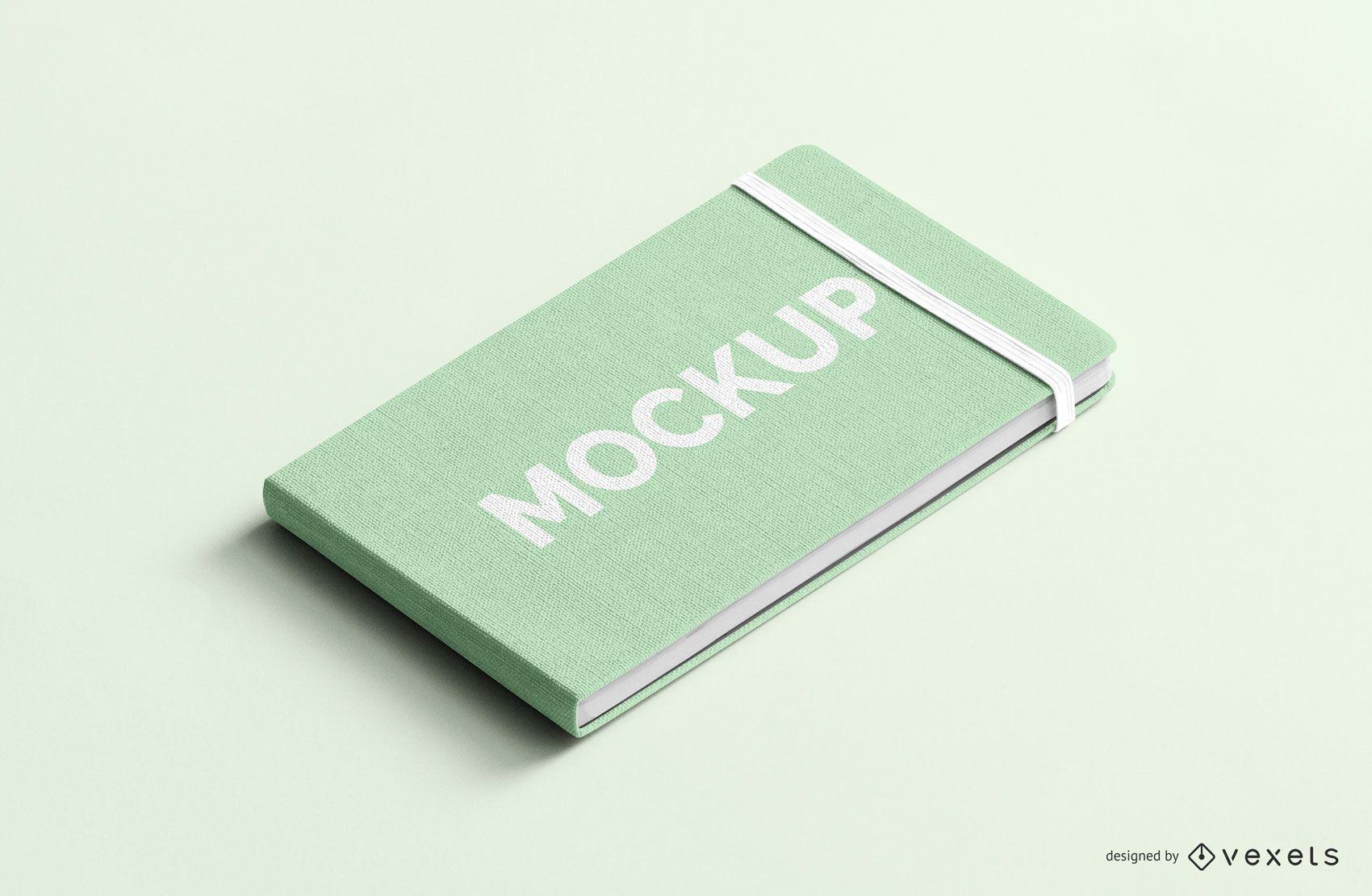Notizbuch mit Gummiband psd Modell
