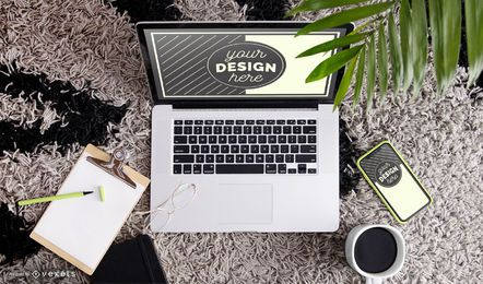 Workspace mockup composition