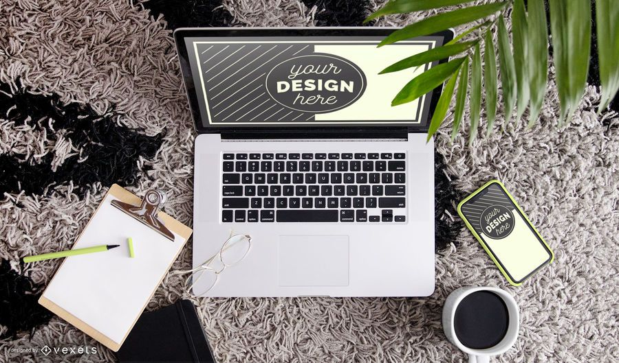 Workspace Psd Mockup Composition