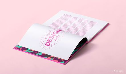 Open book mockup design