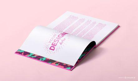 Projeto de maquete de livro aberto