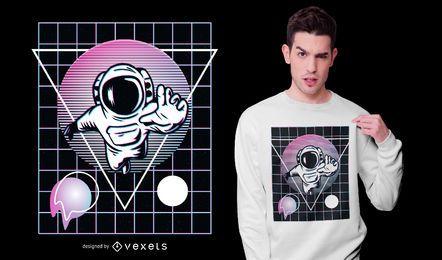 Design de t-shirt de astronauta Vaporwave