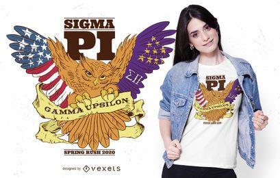 Sigma pi owl t-shirt design