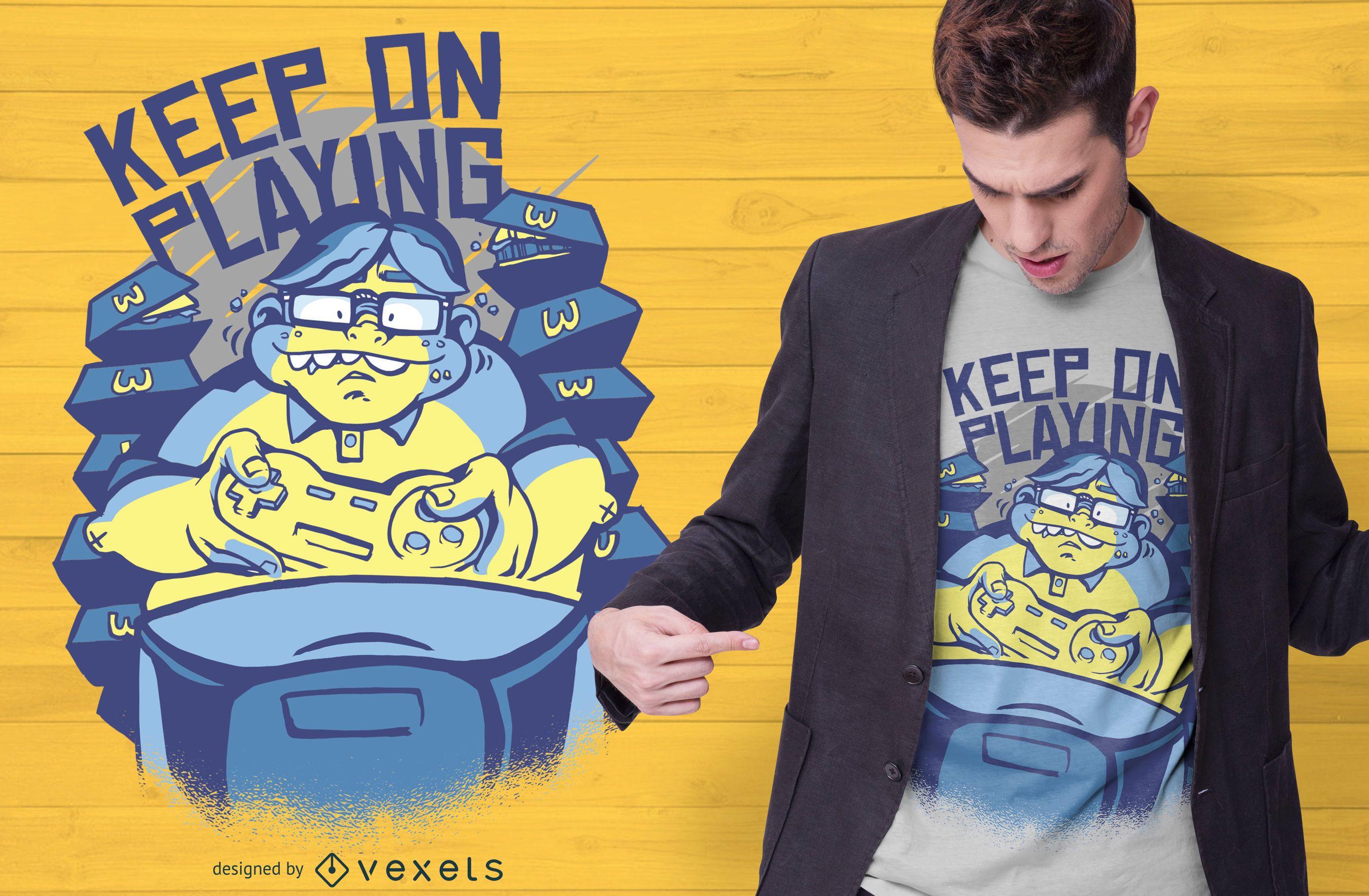 Gaming Nerd Quote T-shirt Design