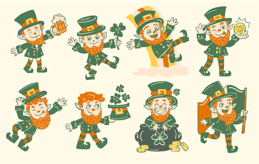 Coleção de personagens de st patricks