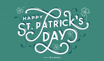 Happy St Patrick's Day Schriftzug