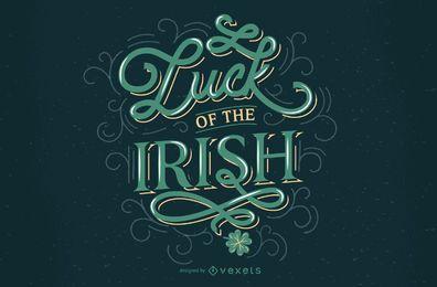 Diseño de letras irlandesas de la suerte de San Patricio