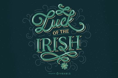 Irish luck st patricks lettering design