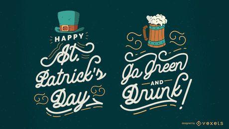 St. Patrick's Schriftzug Set