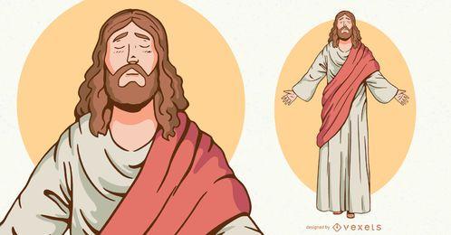 Ilustração de personagem de Jesus