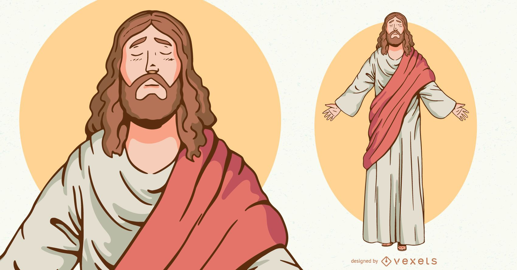 Jesus character illustration