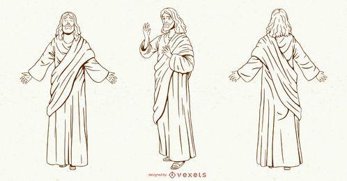 Jesus Schlaganfall Zeichensatz