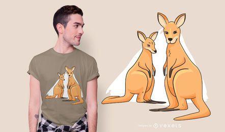Design de t-shirt de cangurus