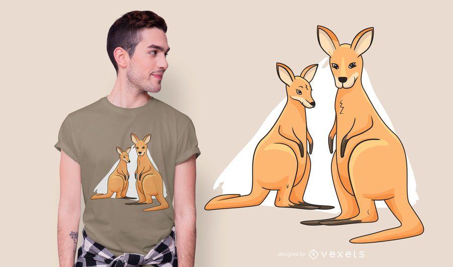 Kangaroos t-shirt design