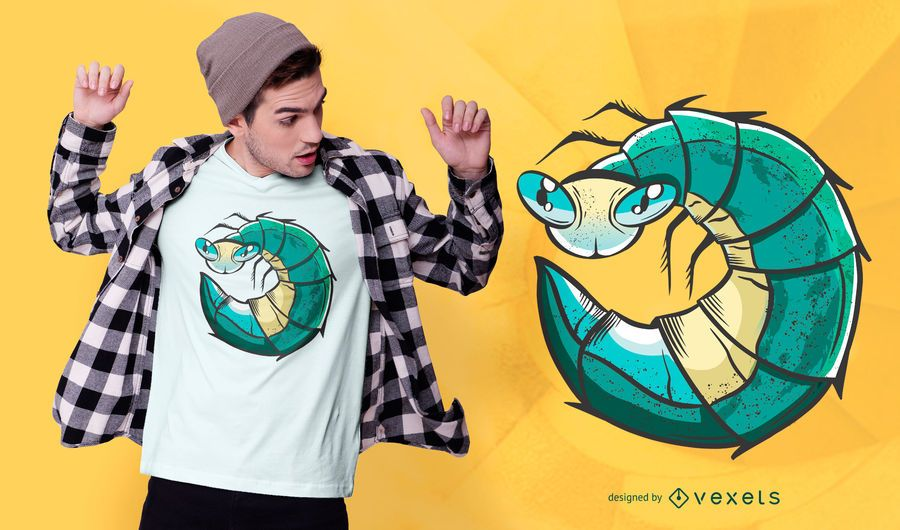 Glow worm t-shirt design