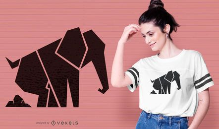 Geometric elephant t-shirt design