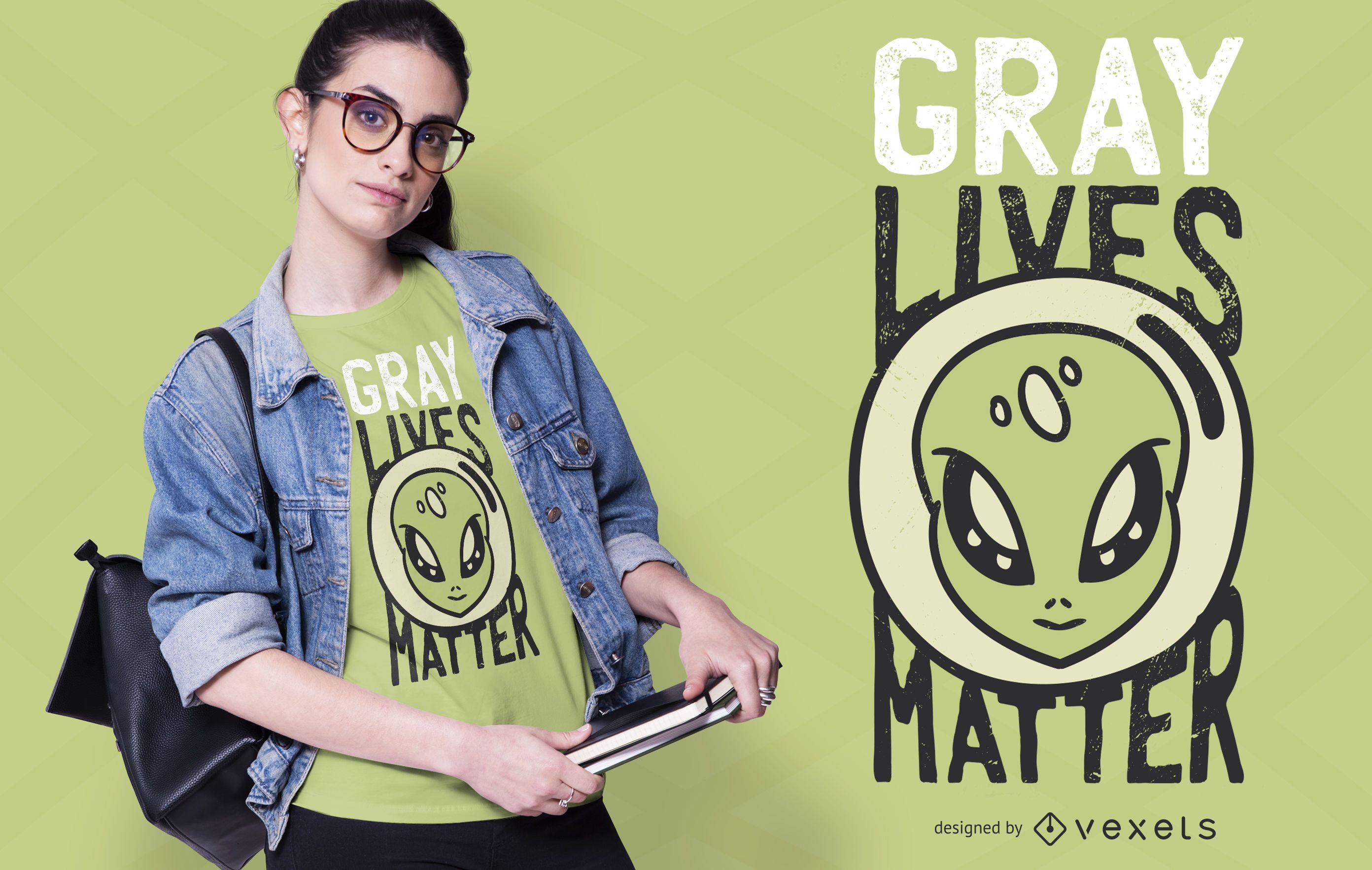 Gray lives matter t-shirt design