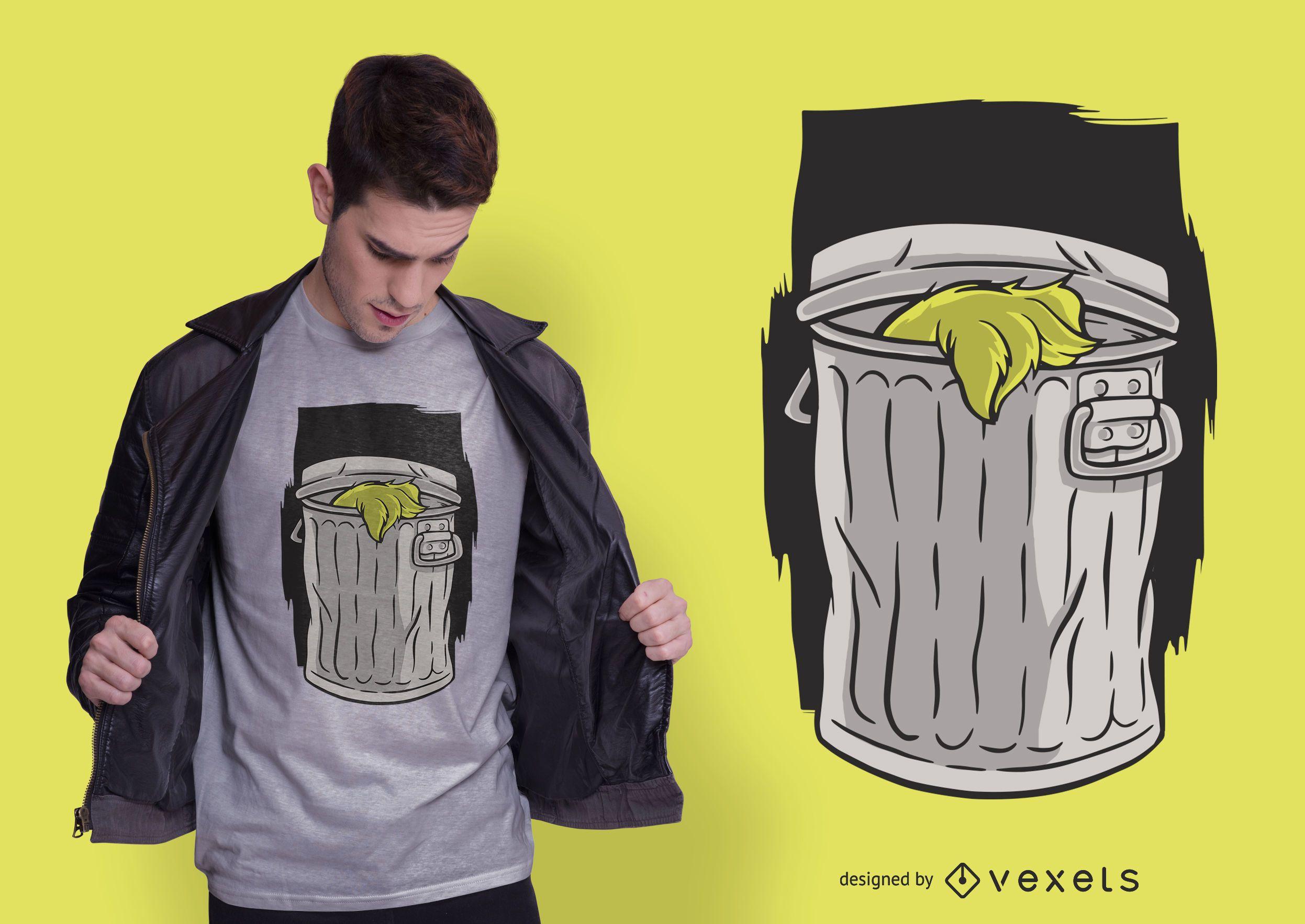 Design de camisetas para lixeira