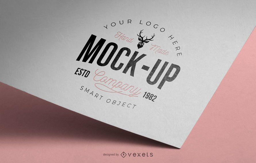 Maquete de logotipo de papel