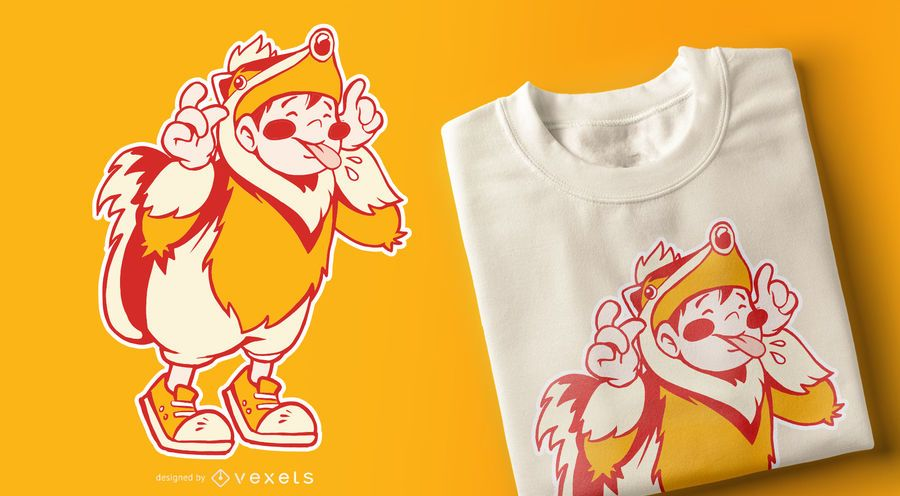 Diseño de camiseta de niño tejón