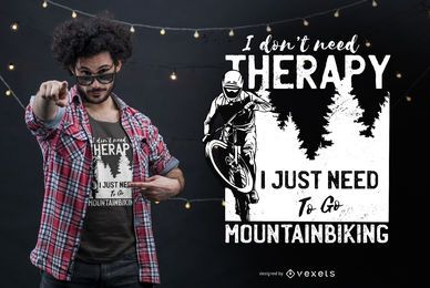 Mountain biking t-shirt design