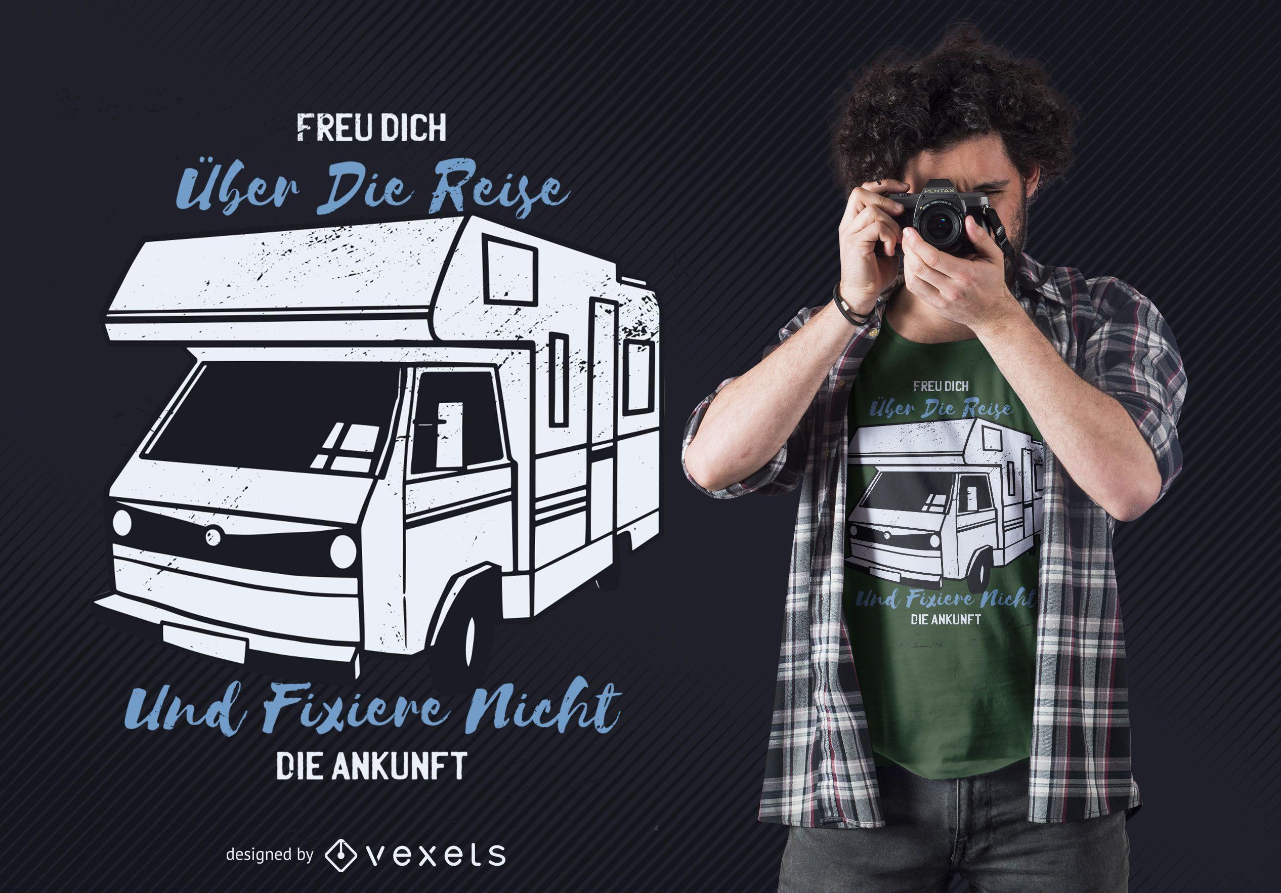 Camper Van German T-shirt Design