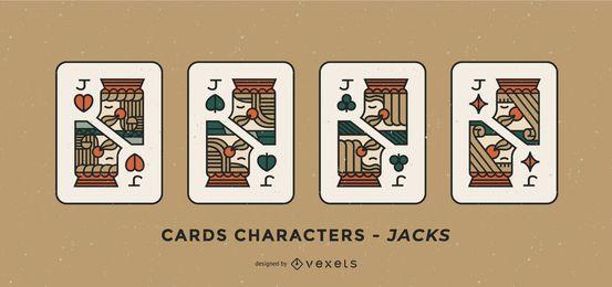 Conjunto de design de cartas de pôquer Joker