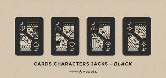 Poker Card Joker Black Fill Set