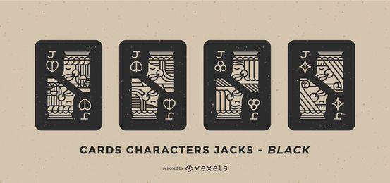 Pôquer Card Joker Black Fill Set