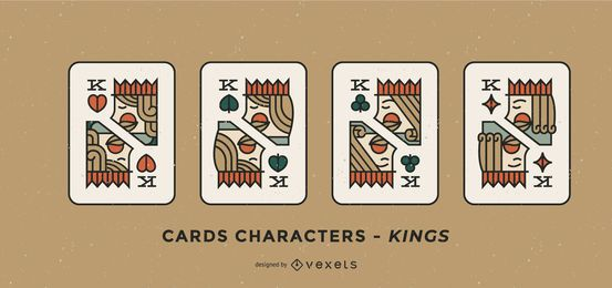 Poker Card Character Kings Set