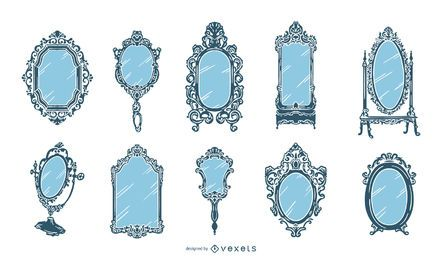 Old Vintage Mirror Design Collection